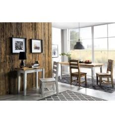 Konsola ze starego drewna - blat mozaikowy