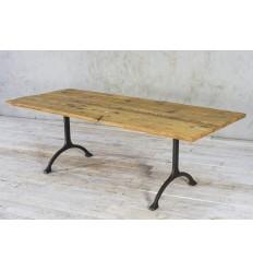 Stół na żeliwnej podstawie - stare drewno No.281