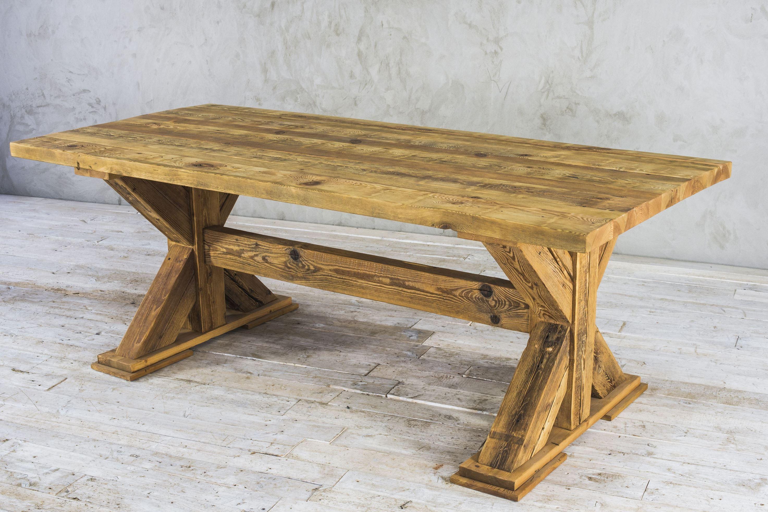 Stół drewniany - zachowana stara powierzchnia No. 27
