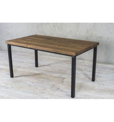 Stół z rdzenia starych belek na profilach