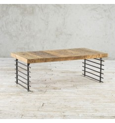 Industrialny stolik ze starego drewna No. 359