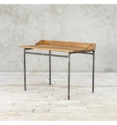 Biurko ze starego drewna na metalowej podstawie no. 367