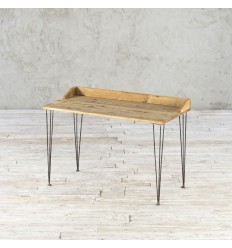 Biurko ze starego drewna na metalowej podstawie no. 368