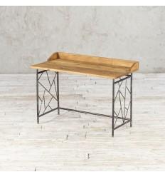 Biurko ze starego drewna na metalowej podstawie no. 369