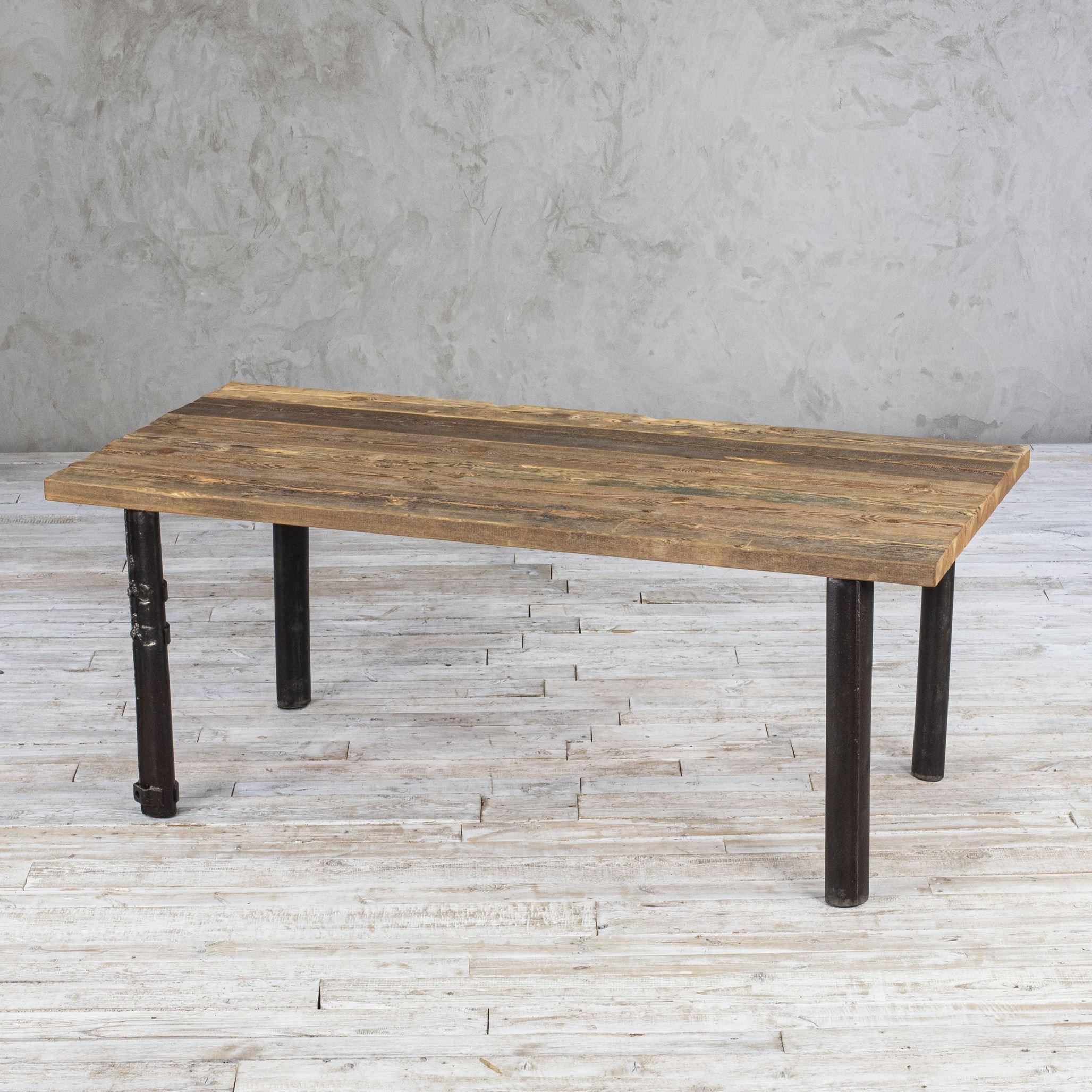 Stół loftowy - stare drewno