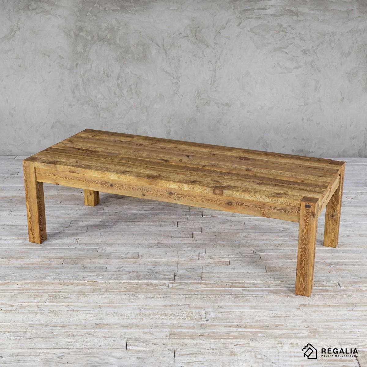 Stół drewniany rozkładany - zachowana stara powierzchnia No. 393