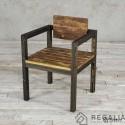 Krzesło ze starego drewna No. 398 - stare deski podłogowe
