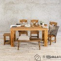 Stół ze starego drewna  - warmiński minimalizm No. 463