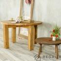 Okrągły drewniany stół ze starego drewna No.28